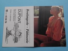 Boulangerie - Patisserie DUPONT Liège (Bressoux) 1990 (Femme Nude / Naakt / Naked) ( Zie/voir Photo Svp ) ! - Petit Format : 1981-90