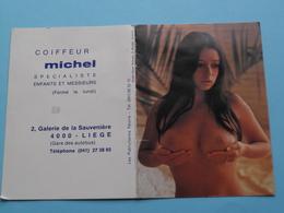Coiffeur MICHEL Liège 1977 (Femme Nude / Naakt / Naked) ( Zie/voir Photo Svp ) ! - Calendarios