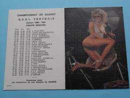 Championnat De BASKET S.C.A.L. VERTBOIS 1987 (Femme Nude / Naakt / Naked) ( Zie/voir Photo Svp ) ! - Petit Format : 1981-90