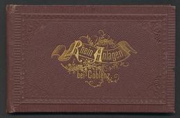 Leporello-Album Coblenz, Rhein Anlagen, Mit 16 Lithographie-Ansichten, Kaiserbogen, Victoriaplatz, Flaggenbaum - Lithographies