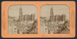 Stereo-Foto B.K., Paris, Ansicht Malaga, La Cathedrale - Fotos Estereoscópicas