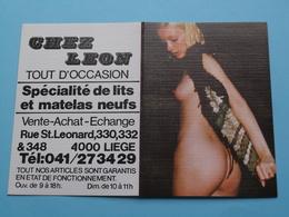 CHEZ LEON Tout D'Occasion Lits/Matelas > 4000 Liège 1985 (Femme Nude / Naakt / Naked) ( Zie/voir Photo Svp ) ! - Petit Format : 1981-90