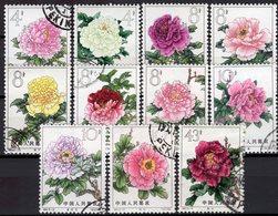 Verschiedene Pfingstrosen 1964 China Aus 795-806 O 56€ Blumen 11 Züchtungen Flower Set Of Chine CINA - 1949 - ... People's Republic
