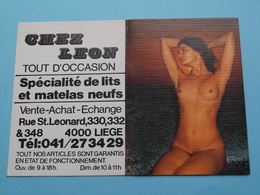 CHEZ LEON Tout D'Occasion Lits/Matelas > 4000 Liège 1985 (Femme Nude / Naakt / Naked) ( Zie/voir Photo Svp ) ! - Calendriers