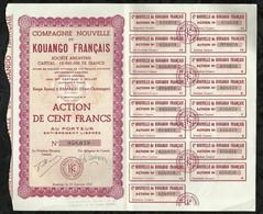 COMPAGNIE NOUVELLE DU KOUANGO FRANCAIS . ACTION DE CENT FRANCS AU PORTEUR . BAMBARI , LE 01 JANVIER 1949 . - Aandelen