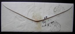 Paris 18 1854 Lettre Pour Epense (Marne) Avec Cursive De Givry En Argonne à L'arrière - 1801-1848: Precursors XIX