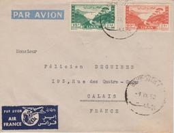 Liban Lettre De 1950 Par Avion Pour La France - Lebanon