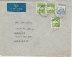 Palestine Lettre De 1935 Par Avion Pour La France - Palestina