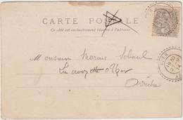 CP Paris, Taxe Annulée, 1C Blanc O. FB Uzer Ardèche à L'arrivée 1914 - Marcophilie (Lettres)