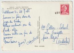 CP 15 F Muller O. Linéaire UZER Ardèche à L'arrivée 1956 - Postmark Collection (Covers)