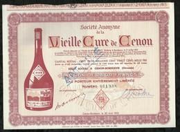 SOCIETE ANONYME DE LA VIEILLE CURE DE CENON . ACTION DE 2500 FRANCS AU PORTEUR . CENON-BORDEAUX, LE 30 AVRIL 1952 . - Aandelen