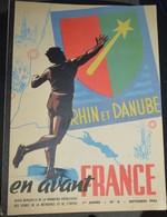 Rare Revue En Avant France N°4 Septembre 1945 Rhin Et Danube - 1939-45