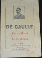 """Rare Livret Anti Général De Gaulle """"ce Qu'il Est Ce Qu'il Veut """" Par Le Parti Communiste Français 1958 - 1939-45"""