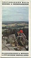 Deutschland - Teutoburger Wald Wiehen- Und Wesergebirge - Faltblatt Mit Farbiger Karte 1:200'000 - Rückseitig 10 Abbildu - Dépliants Turistici