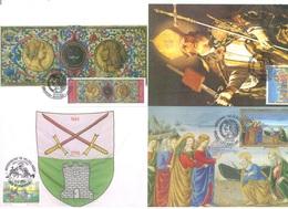 BELGIUM - 13.3.1993 - CM/MK - HISTORY -  MB  - COB 2491-2494 -  Lot 19813 - Cartes-maximum (CM)