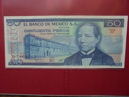 MEXIQUE 50 PESOS 1981 PEU CIRCULER/NEUF - México