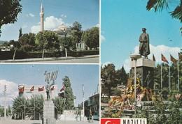 Turkey / Aydin / Nazilli - 1970/80 - Postcard: Ataturk Monuments And A Mosque. Different Views. - Circulated * - Türkei