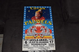 Cirque Circus Pauwels 2000 Uccle Ukkel 50 X 30 Cm Pigeon Clown Cheval - Posters