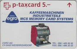 SUISSE - PHONE CARD - TAXCARD-PRIVÉE * FF *** EGRO & CAFÉ *** - Switzerland