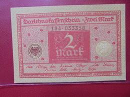 Darlehnskassenschein :2 MARK 1920 - [ 2] 1871-1918 : Impero Tedesco