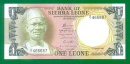 SIERRA LEONE REPLACEMENT 1 Leone 1984 P5e UNC - Sierra Leone