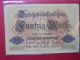 Darlehnskassenschein :50 MARK 1914 - [ 2] 1871-1918 : Empire Allemand