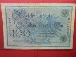 Reichsbanknote :100 MARK 1908 (CACHET VERT CLAIR) - 100 Mark