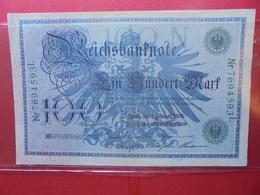 Reichsbanknote :100 MARK 1908 (CACHET VERT FONCE) - 100 Mark
