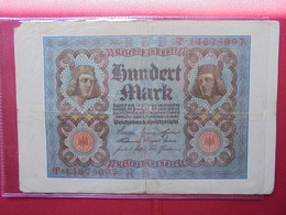 Reichsbanknote :100 MARK 1920 - [ 3] 1918-1933 : Repubblica  Di Weimar