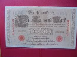 Reichsbanknote :1000 MARK 1910 (CACHET ROUGE) - [ 2] 1871-1918 : German Empire