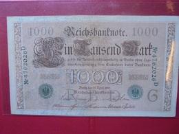 Reichsbanknote :1000 MARK 1910 (CACHET VERT) - [ 2] 1871-1918 : German Empire