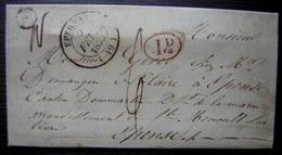 1839 Saint Martin D' Ablois (Marne) Boite Rurale E Càd D'Epernay Lettre Pour Epense - 1801-1848: Precursors XIX