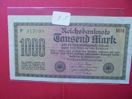 Reichsbanknote 1000 MARK 1922 VARIETE N°2 - [ 3] 1918-1933 : Weimar Republic