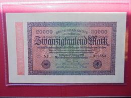 Reichsbanknote 20.000 MARK 1923 VARIETE N°1 - 20000 Mark