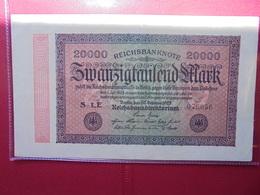 Reichsbanknote 20.000 MARK 1923 VARIETE N°2 - 20000 Mark