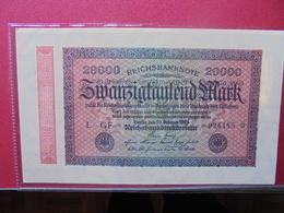Reichsbanknote 20.000 MARK 1923 VARIETE N°3 - 20000 Mark