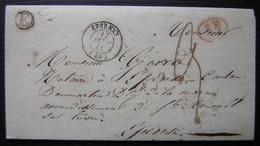 1841 Saint Martin D' Ablois (Marne) Boite Rurale E Càd D'Epernay Lettre Pour Epense - 1801-1848: Precursors XIX