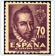 ES1036STV-LFT***1036STCES.España.Spain  Espagne. Escritor.MATEO ALEMAN.1948. (Ed 1036**) Sin Charnela - Arte