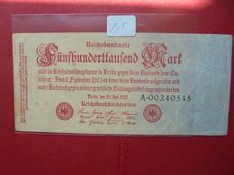 Reichsbanknote 500.000 MARK 1923 - 1918-1933: Weimarer Republik