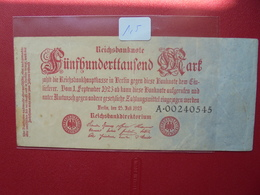 Reichsbanknote 500.000 MARK 1923 - [ 3] 1918-1933 : República De Weimar