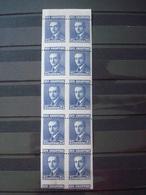 ALBANIA 1925 MNH** 10 X SPECTACULAR PERFORATION VARIETY - Albania