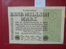 Reichsbanknote 1 MILLION MARK 1923 - [ 3] 1918-1933 : República De Weimar