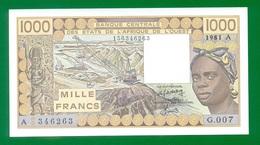West African States COTE D'IVOIRE (IVORY COAST) 1000 Francs 1981 P107Ac UNС - West-Afrikaanse Staten