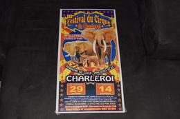 Circus 3° Festival Du Cirque De Charleroi 50 X 26.5 Cm éléphant - Affiches