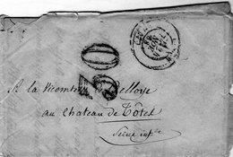 Lettre Envoyé à Mm La Vicomtesse De Belloye Au Château De Tôtes - Envoyé De Lille Le 24 Novembre 1868 - - Historische Dokumente