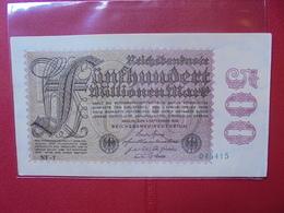 Reichsbanknote 500 MILLIONEN MARK 1923 - [ 3] 1918-1933: Weimarrepubliek