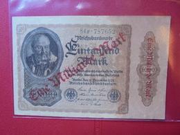 Reichsbanknote 1 MILLIARDE MARK 1922/23 - [ 3] 1918-1933 : Repubblica  Di Weimar