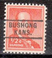 USA Precancel Vorausentwertung Preo, Locals Kansas, Bushhong 729 - Vereinigte Staaten