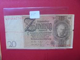 Reichsbanknote 20 MARK 1929 - [ 3] 1918-1933: Weimarrepubliek