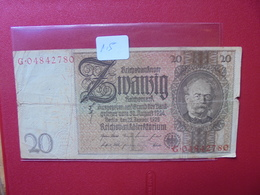 Reichsbanknote 20 MARK 1929 - [ 3] 1918-1933 : República De Weimar